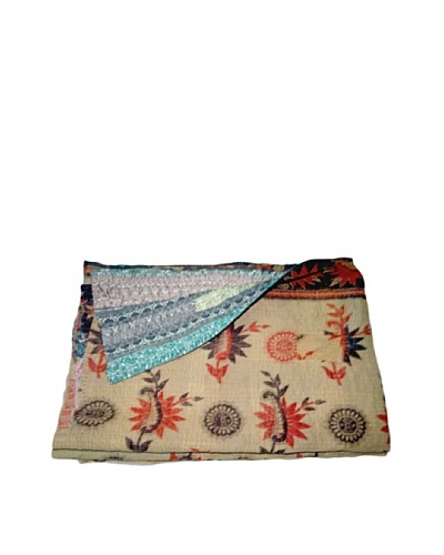 "Vintage Navneet Kantha Throw, Multi, 60"" x 90""As You See"