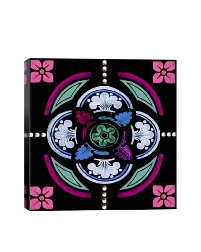 Single Neon Stained Glass Giclée On Canvas