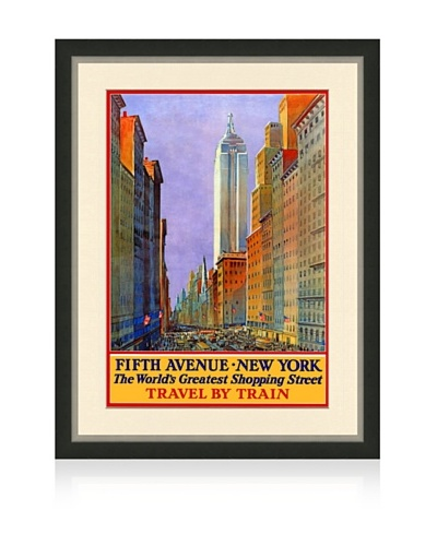 Reproduction New York City Framed Travel Poster