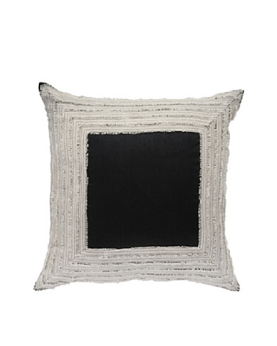 "Edge Lounge Pillow, Black/Linen, 21"" x 21""As You See"