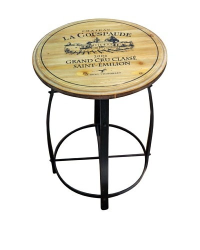 Iron Accent Table, Brown