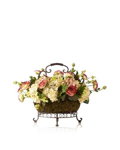 Ranunculus Hydrangea Basket