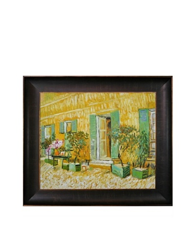 Vincent Van Gogh Exterior of a Restaurant at Asnieres Framed Oil Painting