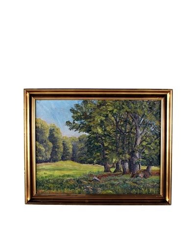 Woods, 1935 Framed Artwork