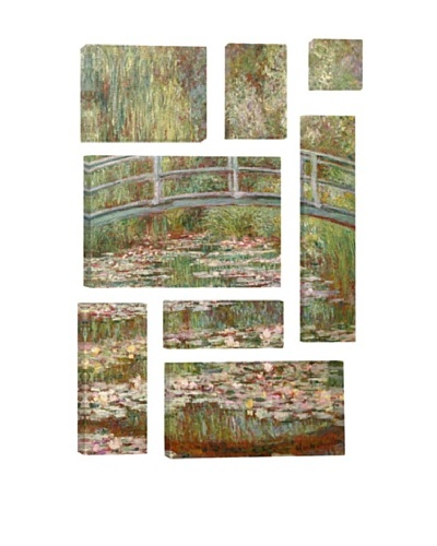 Claude Monet Bridge Over a Pond of Water Lilies 8-Piece Giclée Canvas Print