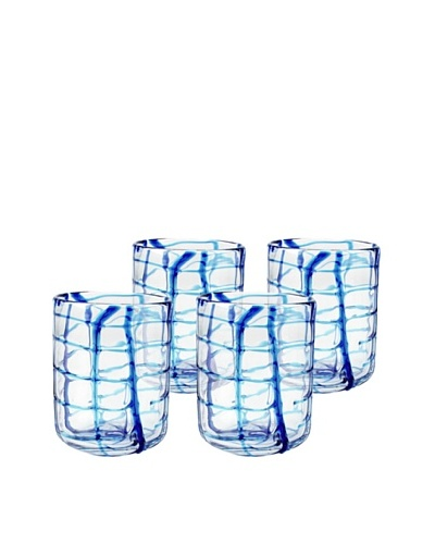Set of 4 Abstract Rocks Glasses