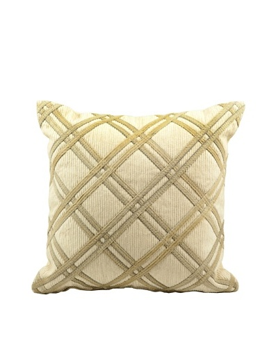Joseph Abboud Diamond Caning Pillow, Beige,20 x 20