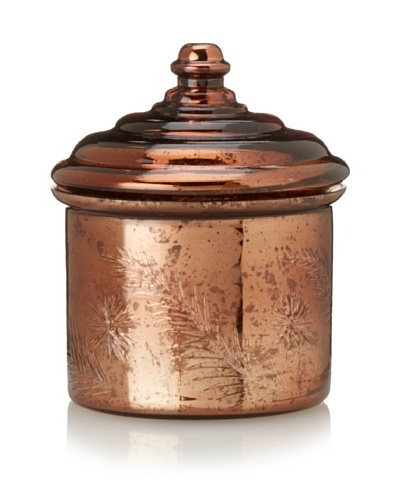 Etched Cinnamon Scented Candle Jar, Antique Bronze