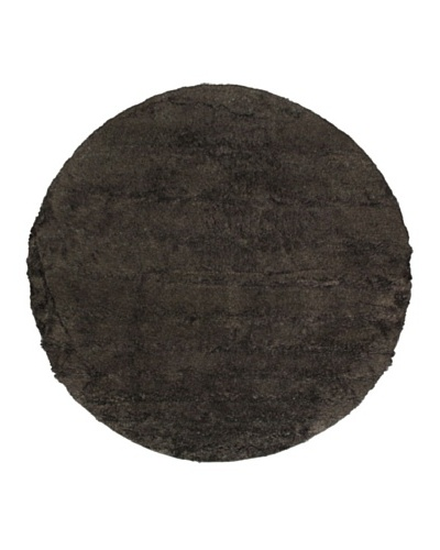 "Hand-Knotted Casablanca Retro Shag Rug, Black Yellow, 8' 2"" Round"