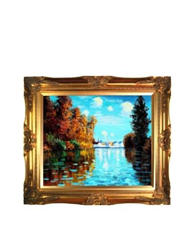 Claude Monet Autumn at Argenteuil Framed Oil Painting