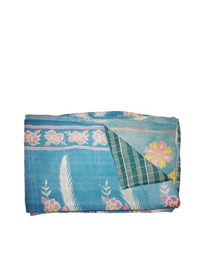 "Vintage Kantha Throw, Multi, 60"" x 75"""