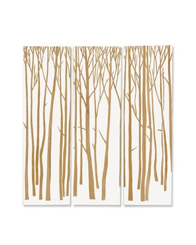 Set of 3 Birch Forest Wall Décor, White