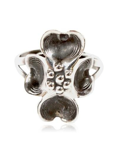 4-Leaf Clover Ring, Silver