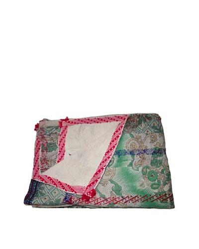 Vintage Aakaanksha Kantha Throw, Multi, 60 x 90