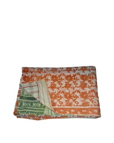 Large Vintage Kantha Throw Kanti, Multi, 60 x 90