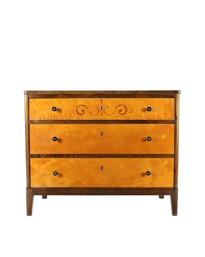 Walnut Chest of Drawers, Brown/Blonde
