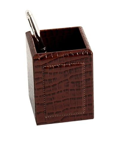 Pen Cup, Brown Croc