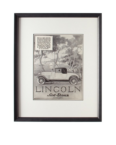 Original French Lincoln Advertisement, 1930