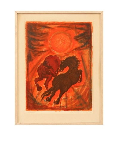 Tallymer By Annalise Sondergaard Framed Artwork, Red/Black/Orange