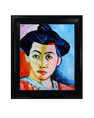 The Green Stripe Framed Reproduction Oil Painting by Henri Matisse