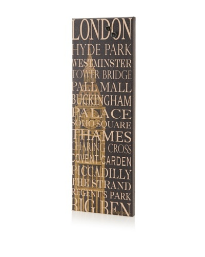"Kathryn White ""London Tube"" Giclee on Cork Board"