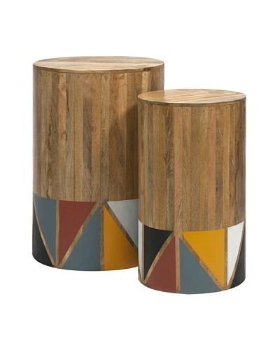 Set of 2 Grewal Mango Wood Tables
