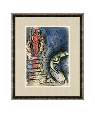 Marc Chagall: Ahasuerus Sends Vashti Away