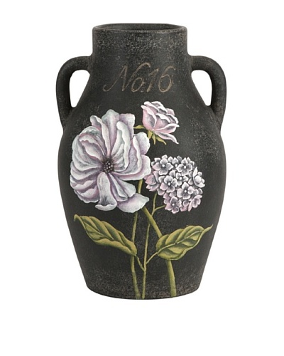Quinn Small Handpainted Floral Vase