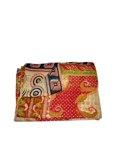 Vintage Preeti Kantha Throw, Multi, 60 x 90