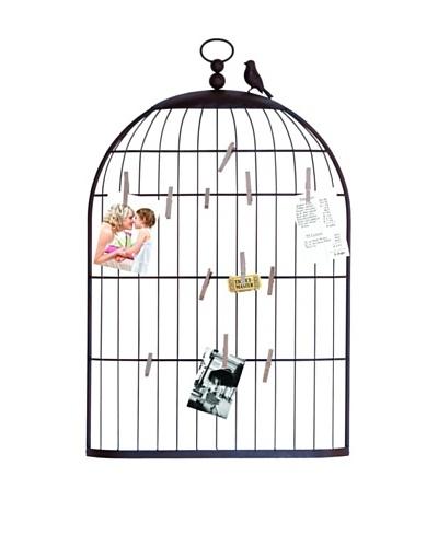Metal Birdcage Photo Holder