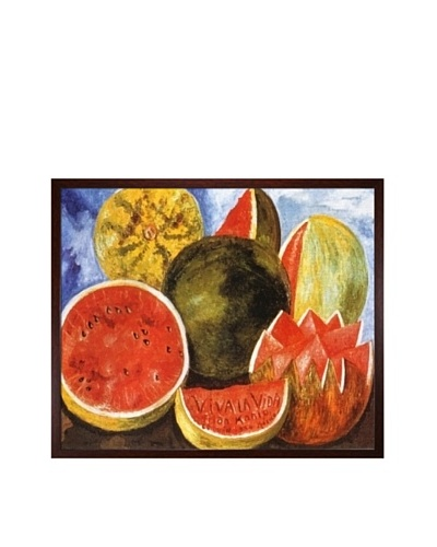 "Frida Kahlo's ""Viva la Vida, Watermelons"" Framed Reproduction Oil Painting"