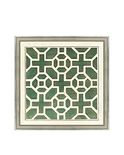 Green Garden Plan I Giclée Print