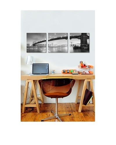 Moises Levy's Brooklyn Bridge Pano 1 Giclée Canvas Print Triptych