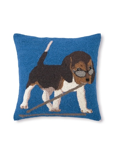 Hook Pillow, Drummer Beagle, 18 x 18