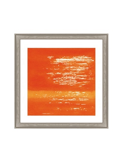 Orange Watercolor Abstract I