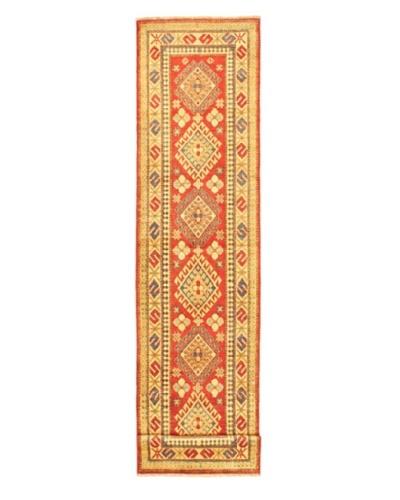 Hand-knotted Uzbek Transitional Runner Wool Rug, Beige/Orange, 2' 9 x 12' 2 Runner