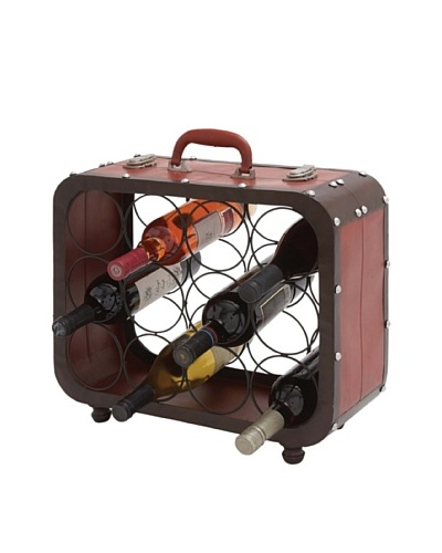 Metal Suitcase Wine Holder