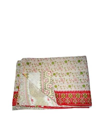 Vintage Lavanya Kantha Throw, Multi, 60 x 90