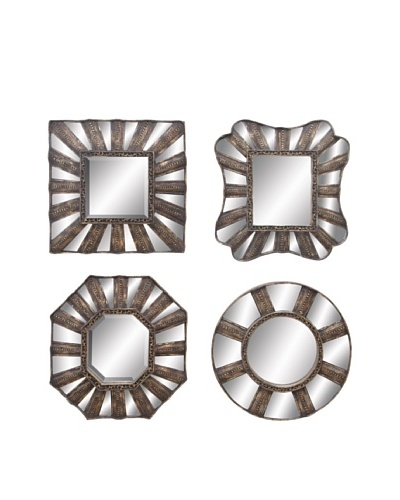 UMA Set of 4 Assorted Metal MirrorsAs You See