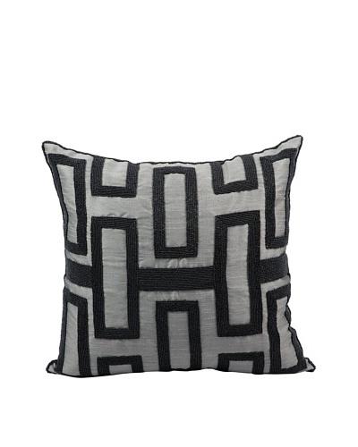 Joseph Abboud Interlock Pillow, Grey/Black, 16 x 16