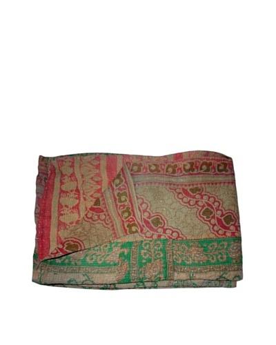 Vintage Hema Kantha Throw, Multi, 60 x 90