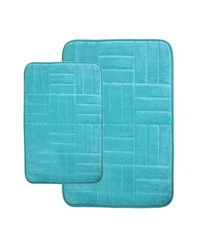 Memory Foam Bath Mat, Aqua