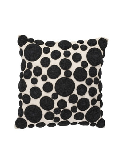 Snail Pillow, Black/Natural, 18 x 18