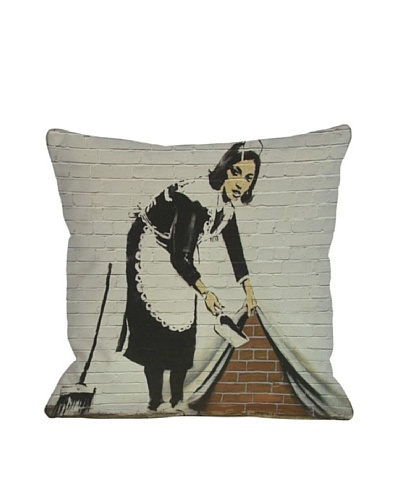 Banksy Under the Rug Pillow