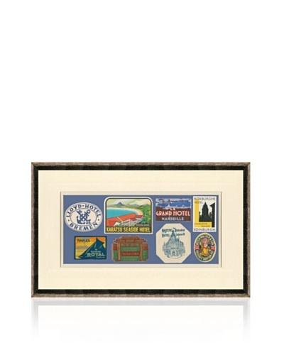 Vintage Luggage Labels - Belgium, Japan, Italy, France, British Isles, Argentina, USA