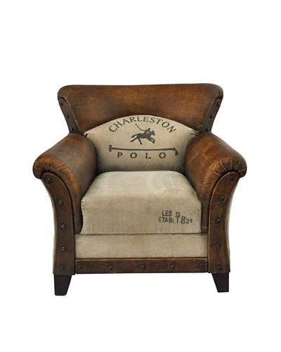 Charleston Armchair, Brown/Tan