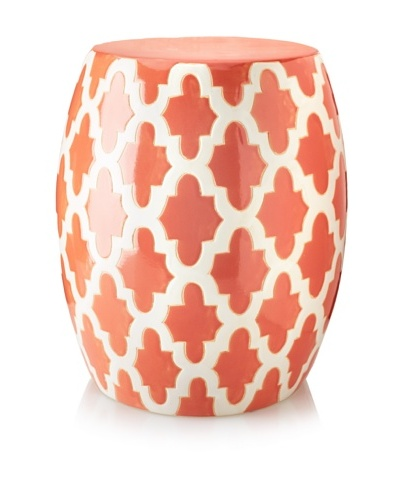 Stupendous Mauritius Ceramic Garden Stool Coral White Modern Machost Co Dining Chair Design Ideas Machostcouk