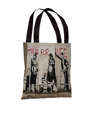 Banksy Thug for Life I Tote Bag