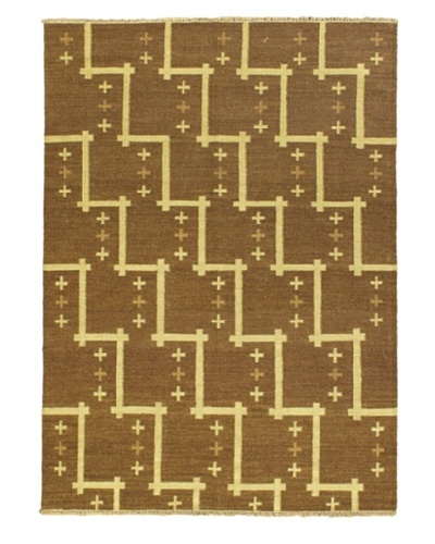 Izmir Kilim Traditional Kilim, Brown, 4' 7 x 6' 7