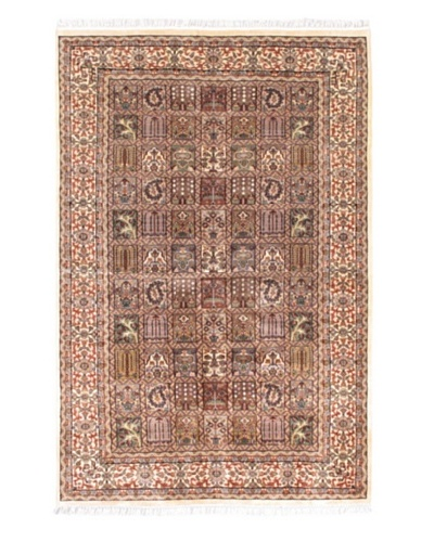 Hand-Knotted Kashmir Kerman Traditional Rug, Pink, 5' 1 x 7' 7